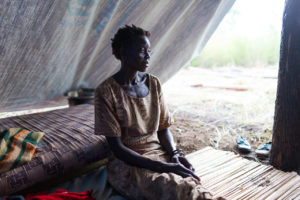 'I heard gunshots in our village and ran at night. Here, I haven't heard any gunshots since I arrived.' – Esther Ojabajon, 43 from Arapi in Eastern Equatoria, South Sudan.