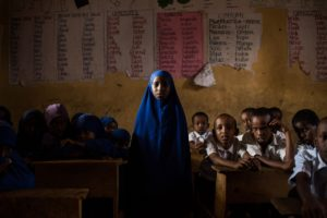 "Bilal Abdi, 9 was a student in Violet Muranga's class last year. ""We learned songs like 'Twinkle, Twinkle, Little Star', "" she said. © Will Swanson for The New York Times"